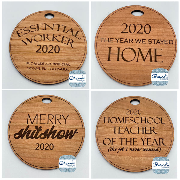2020 Christmas ornaments - Glendi Designs