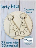 Party hats birthday hat new years eve hats wooden interchangeable HOME sign icon