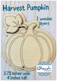 Pumpkin fall harvest wooden interchangeable HOME sign magnet