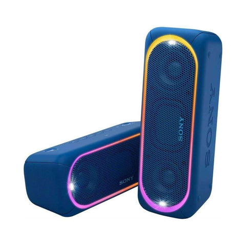 Sony SRS-XB30 Portable Bluetooth Speaker 2017 Black/Blue- (Certified Refurbished)