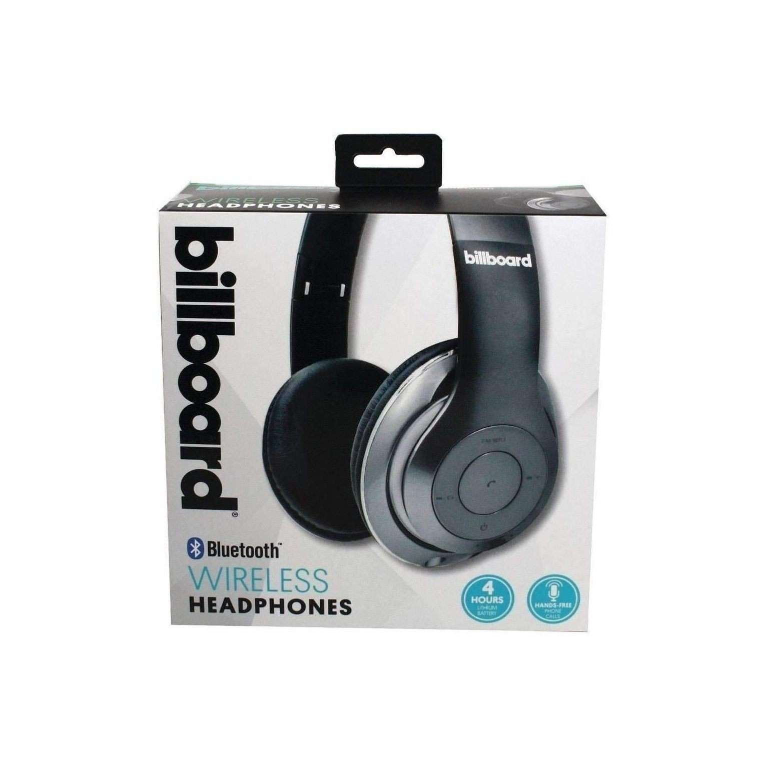 Billboard BB485 Over-Ear Bluetooth Foldable Headphones with Microphone (Silver)