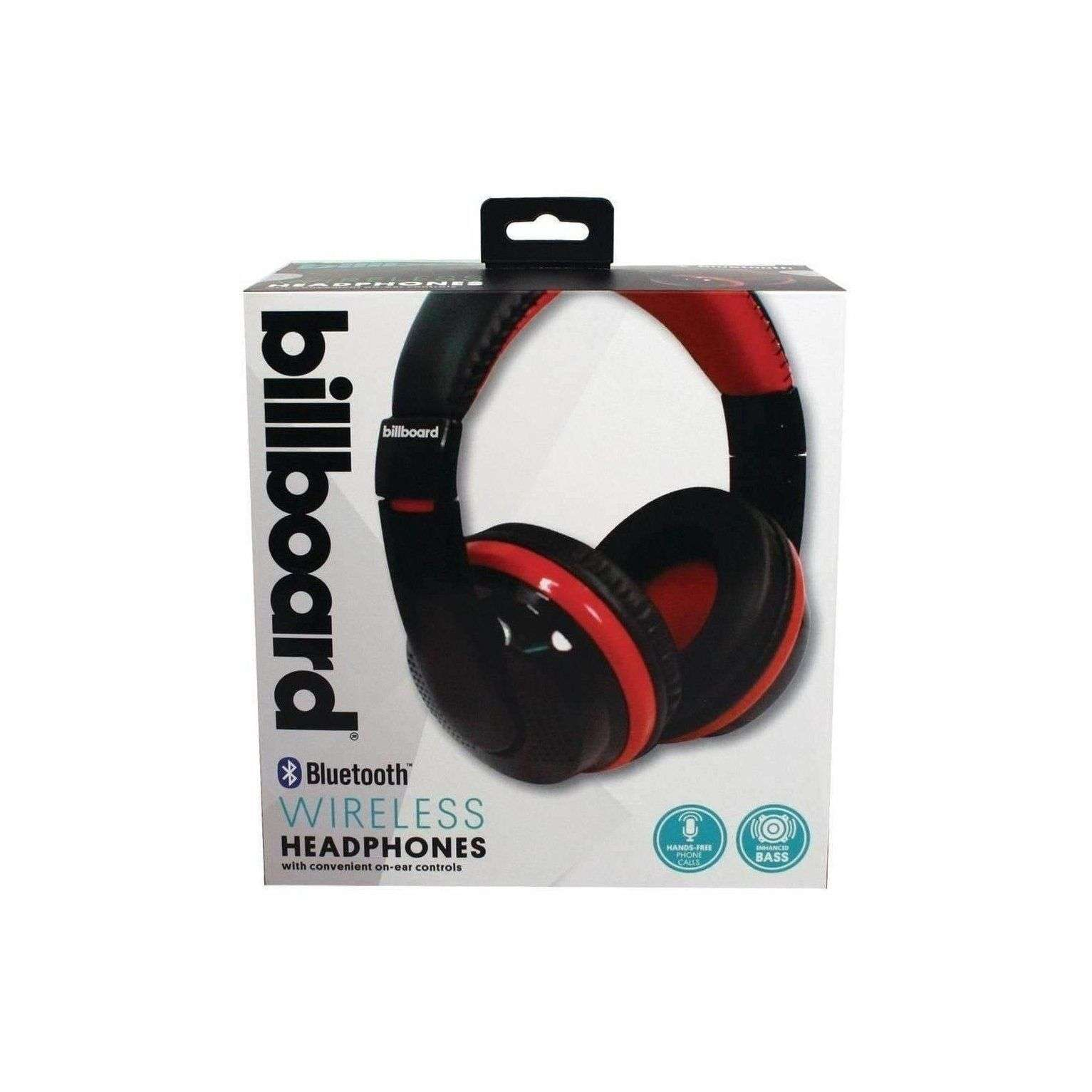 Billboard BB489 Bluetooth Over-Ear Foldable Headphones with Mic (Red)