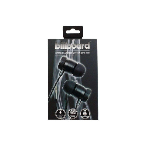 Billboard BB570 Stereo Earbuds with Microphone (Black)