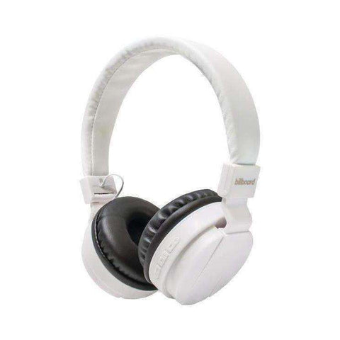 Billboard BB495 Large On-Ear Bluetooth Headphones (White)