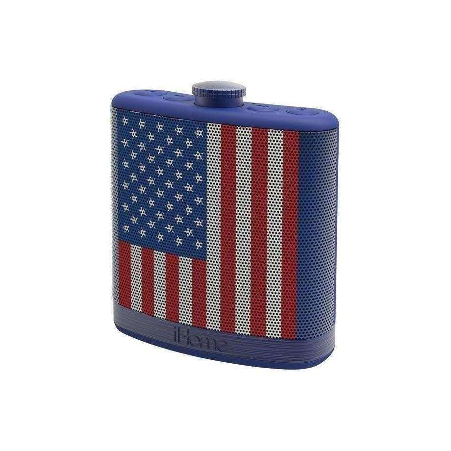 IHOME Flask-Shaped Flag Bluetooth Stereo Speaker