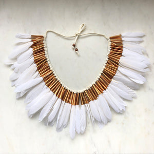 Full Feather Collar in white