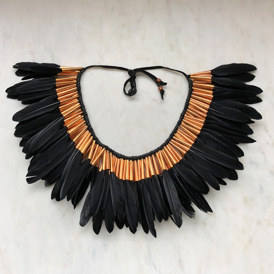 Full Feather Collar in black