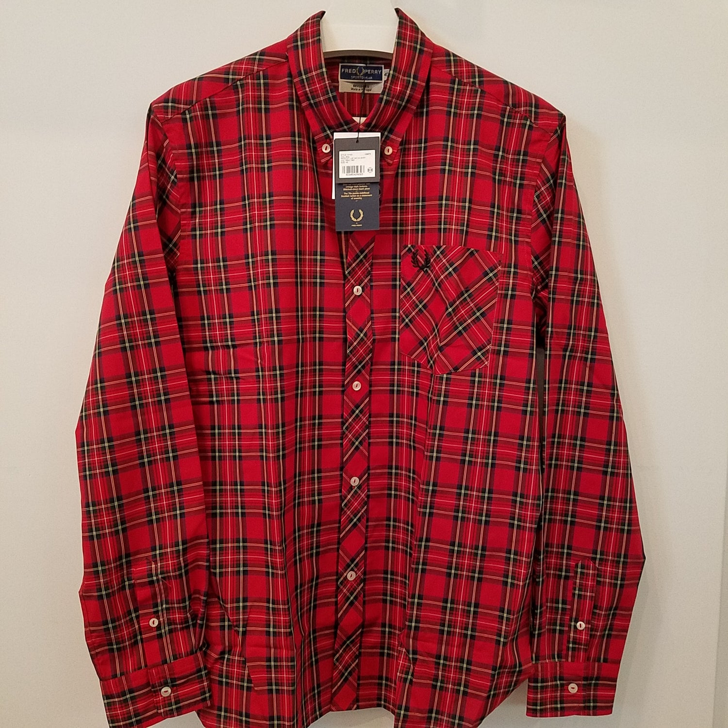 Fred Perry L/S Tartan Button Down
