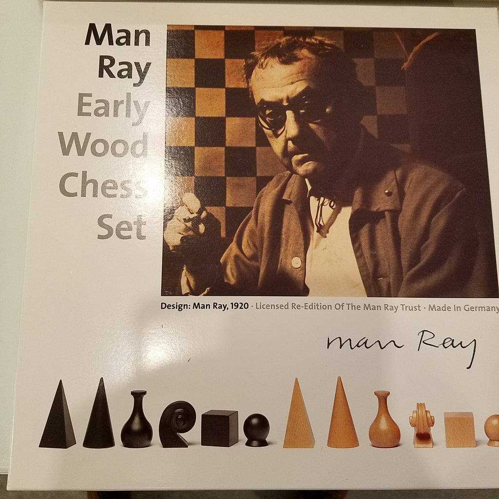 Man Ray Early Wood Chess Set