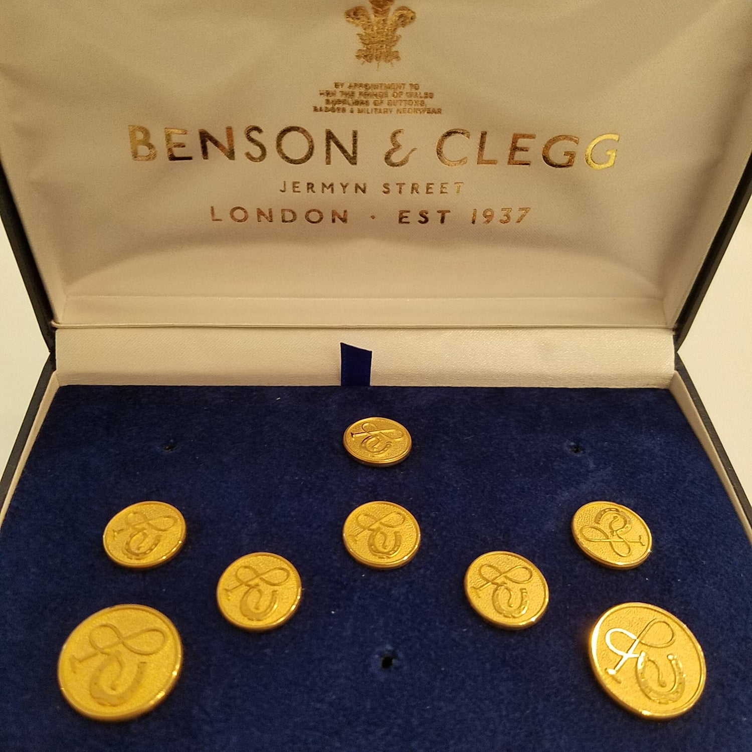 Benson & Clegg Horse Shoe & Whip Button Set
