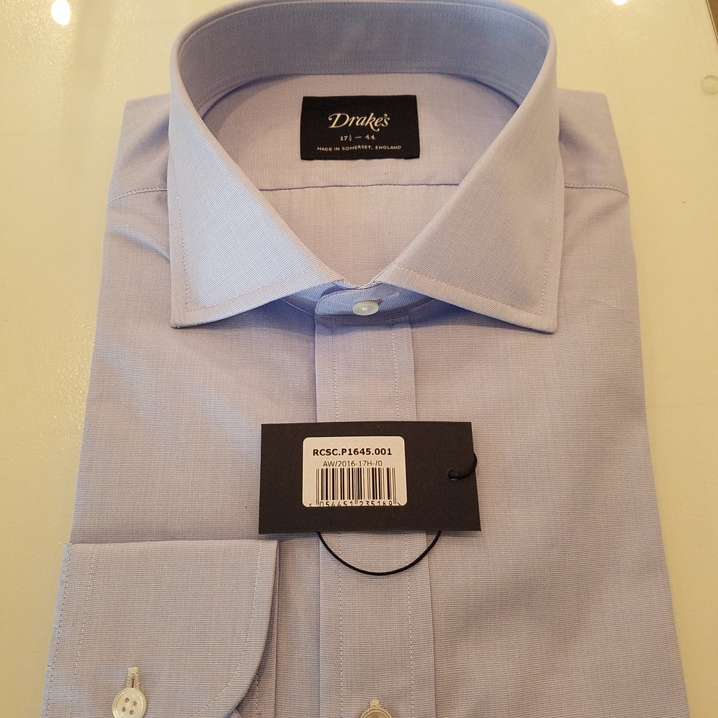 Drake's Cotton Spread Collar Shirt