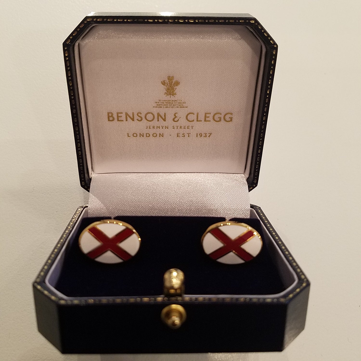 Benson & Clegg St. Patricks Cross Enamel Cufflinks
