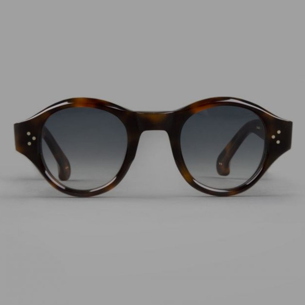 Drake's Dark Tortoise Rounded Sunglasses