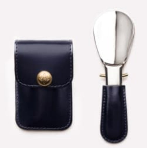 Ettinger Travel Shoe Horn in Bridle Leather Pouch