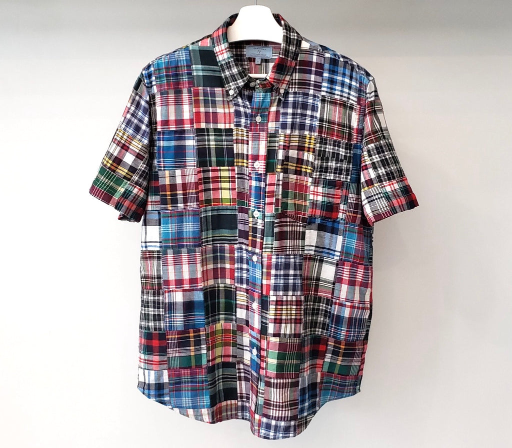Castaway Lincoln Short Sleeve Patch Madras Shirt