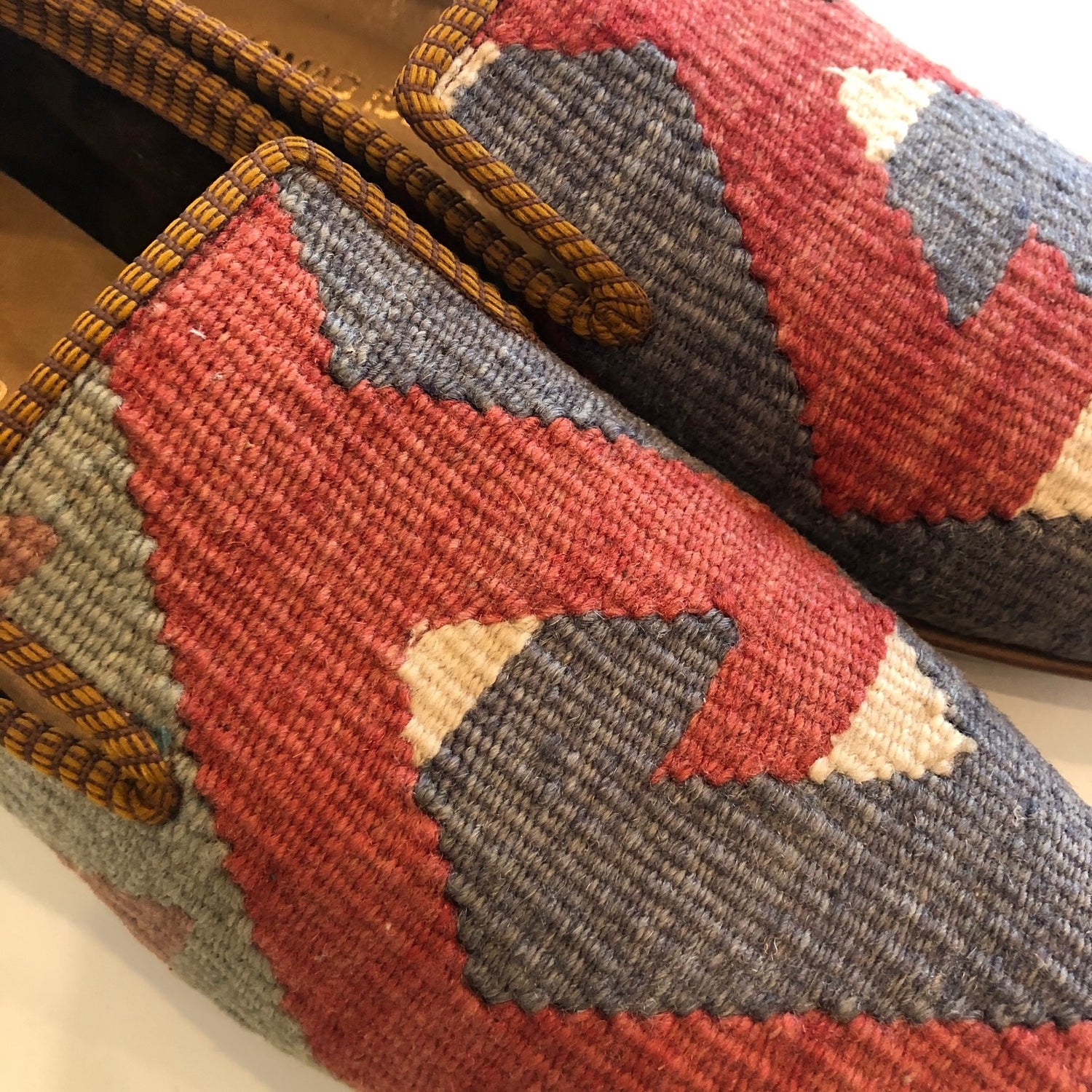 Turkish Kilim Slippers Euro size 44 (US 11)