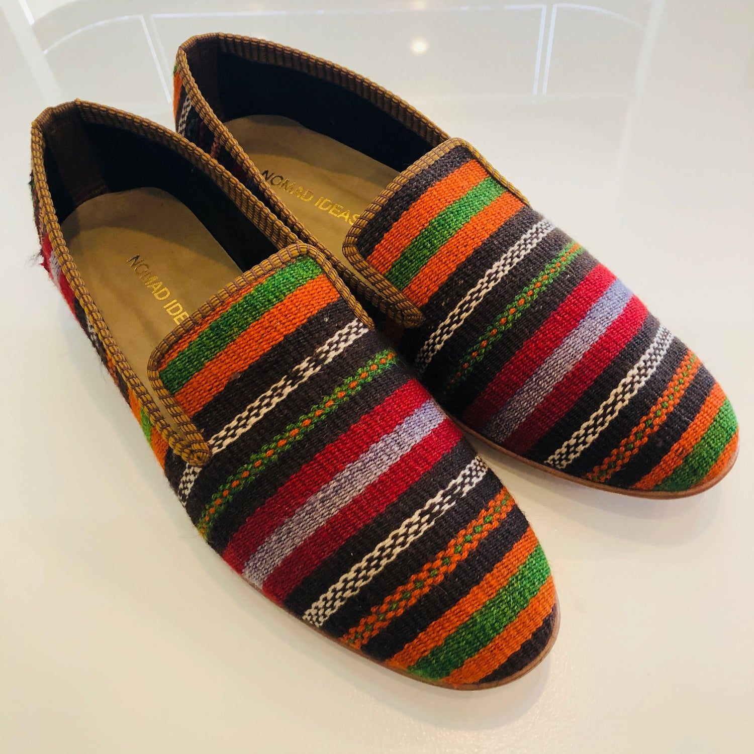 Turkish Kilim Slippers size 46 Euro (13 US)