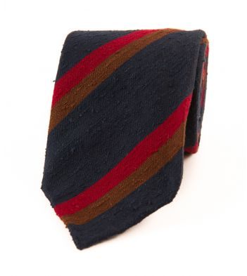 Drake's Hand Rolled Woven Tie