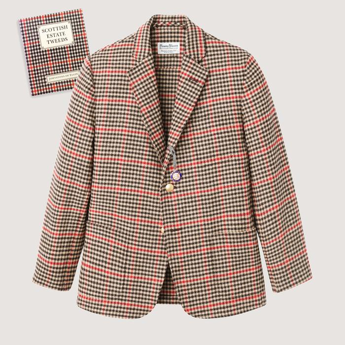 Rowing Blazers Gun Club Check Tweed Jacket
