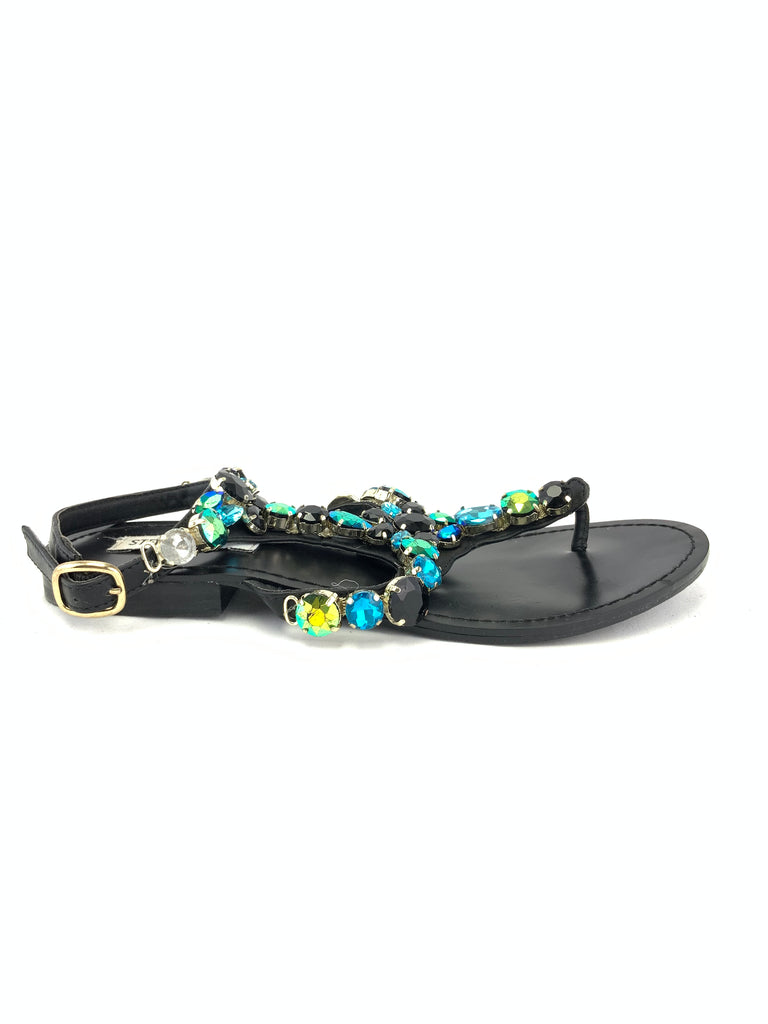 Steve Madden Chantel Jeweled Sandals Size 7.5M