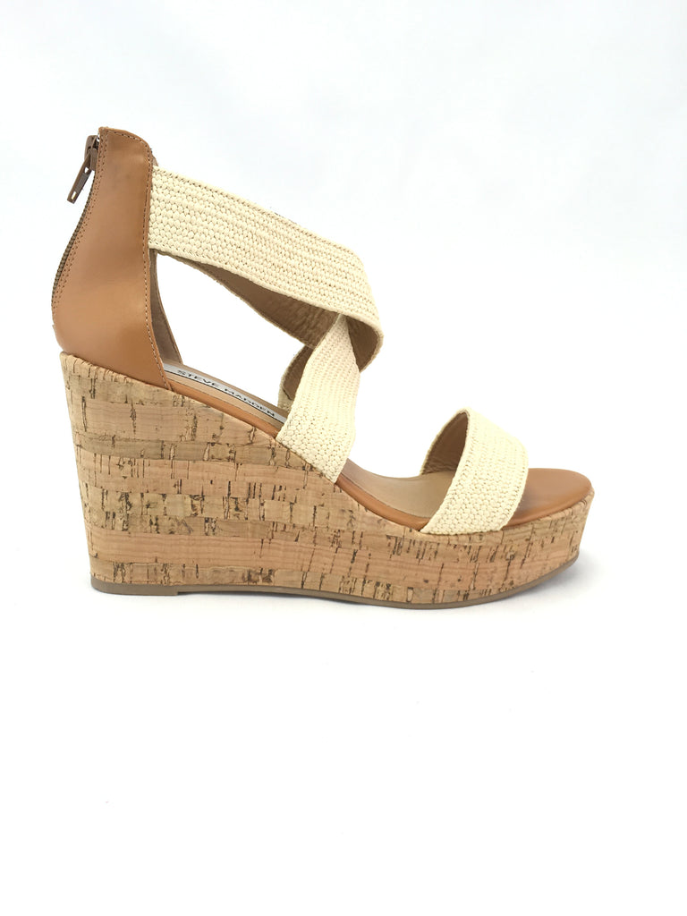 Steve Madden Elwyn Wedge Sandals Size 8.5M