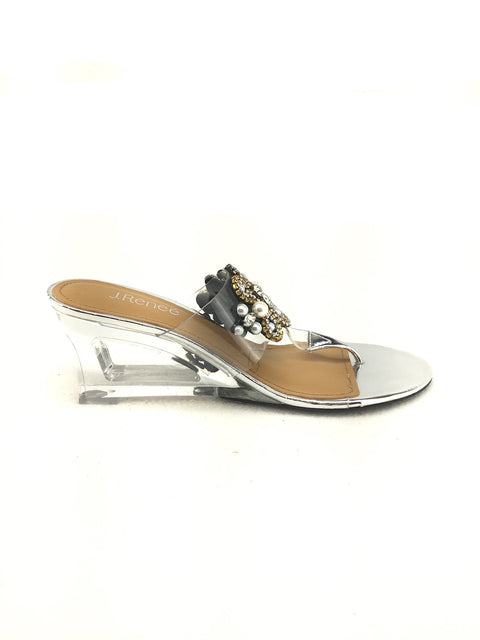 J.Renee Wedge Sandals Size 9M