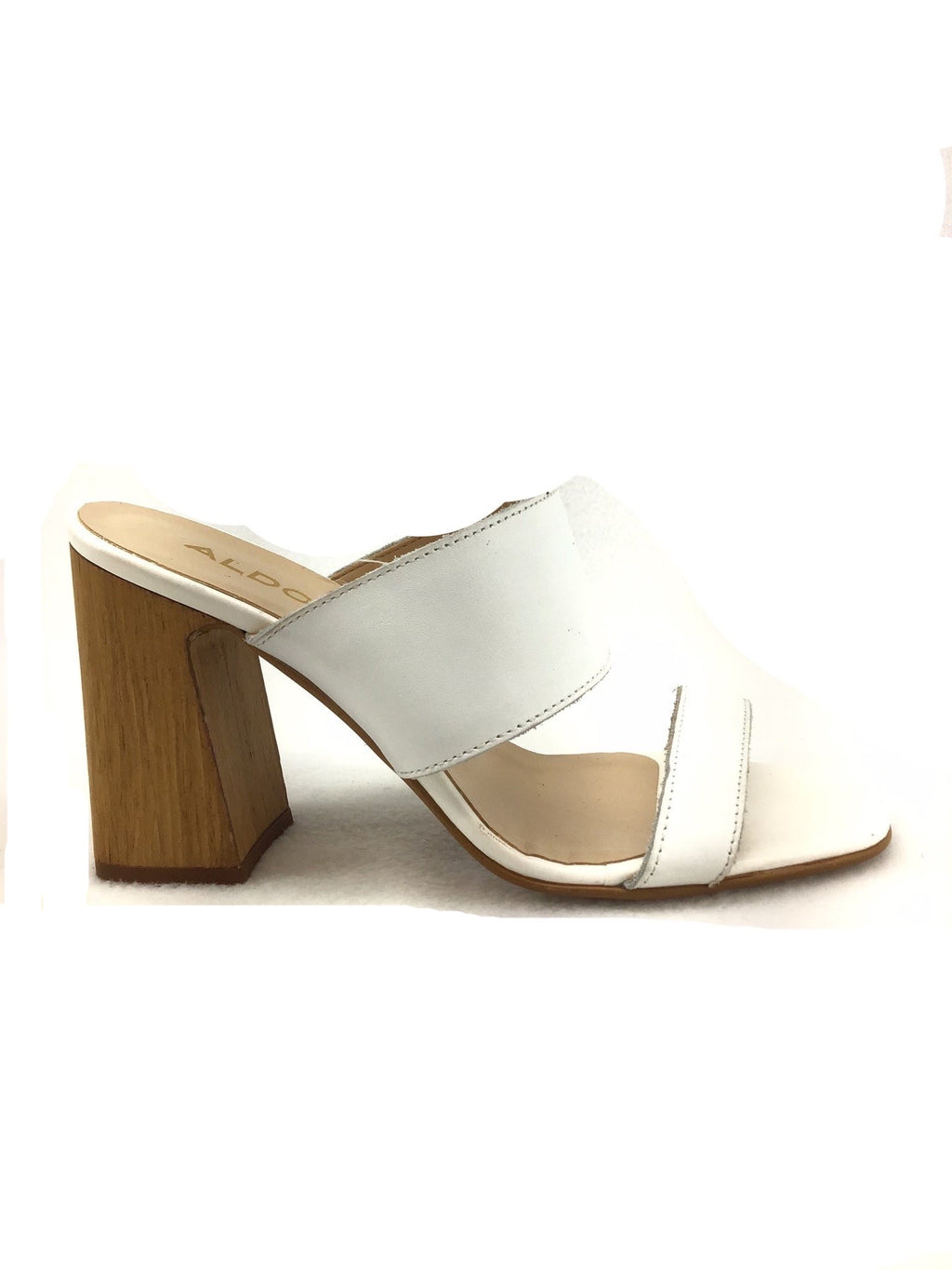 Aldo Wooden Heel Sandals Size 6