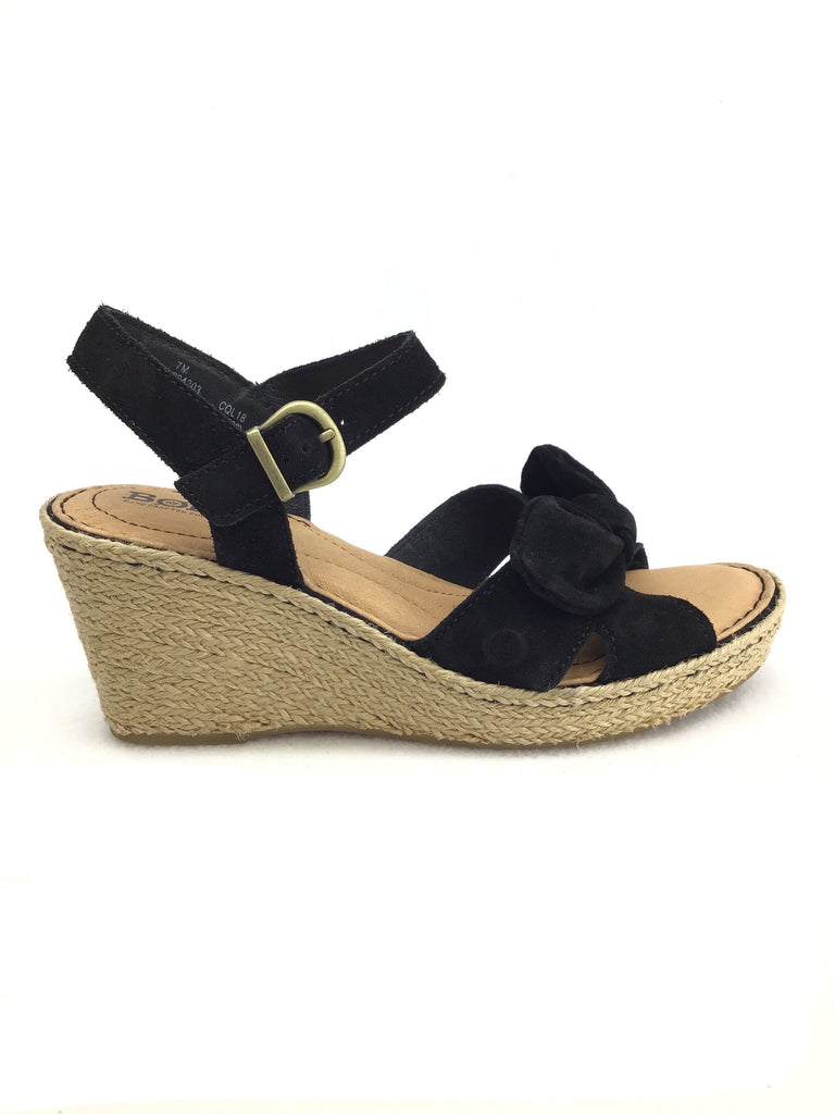 Born Espadrille Wedge Sandals Size 7M