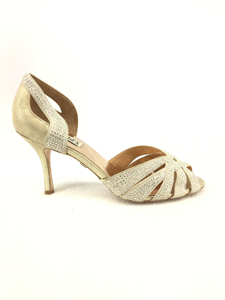 Badgley Mischka Peep Toe Pumps Size 7.5M