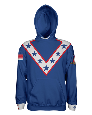 Evel Knievel Pullover Hoodie -Blue