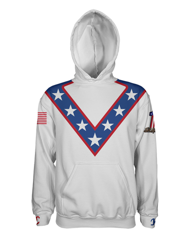 Evel Knievel Pullover Hoodie - White
