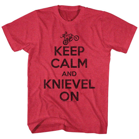 Keep Calm and Knievel On Red T-Shirt