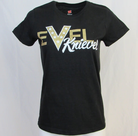 Evel Knievel Ladies EK Name Black
