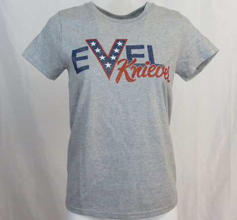 Evel Knievel Ladies EK Name Grey