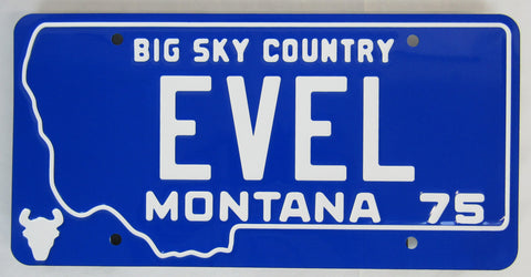 Evel Knievel License Plate