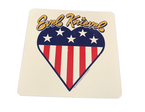 Heart Evel Knievel Decal