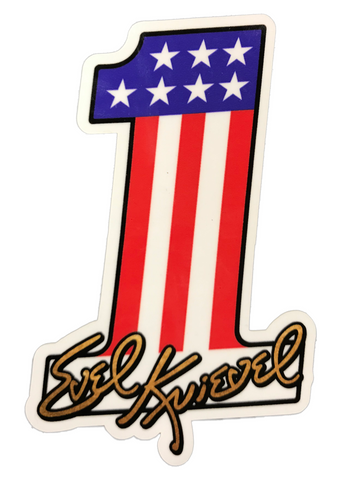 Number 1 Evel Knievel Decal - Large