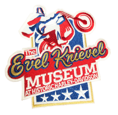 Evel Knievel Museum Embroidery Patch Medium