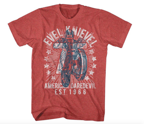 Evel Knievel Red SEVENTY FIVE! T-Shirt