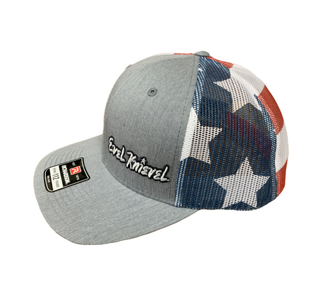 Evel Knievel Stars and Stripes Richardson Trucker Hat