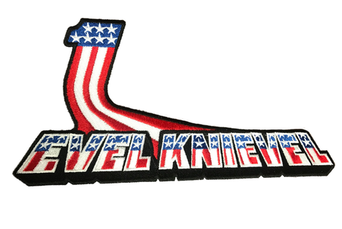Evel Knievel Retro Large Embroidery Patch