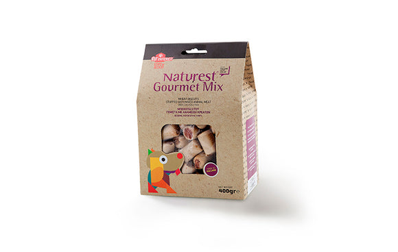 GOURMET MIX WHEAT BISCUITS STUFFED WITH MIXED ANIMAL MEAT - Epetshopcy