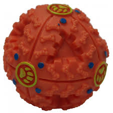pawise-Giggle Treat Ball Small Orange