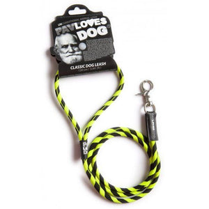 Original Lanyards Dog leash Pav Loves Dog Black 120cm - Epetshopcy