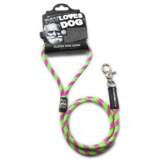 Original Lanyards Dog leash Pav Loves Dog Green 120cm - Epetshopcy
