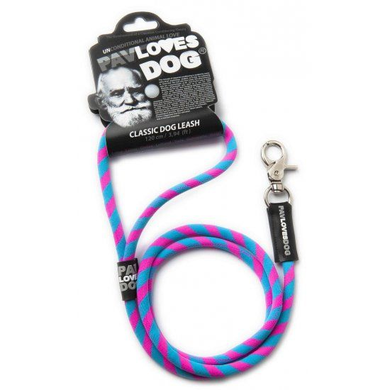 Original Lanyards Dog leash Pav Loves Dog Pink-120cm - Epetshopcy