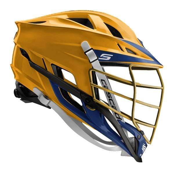 Cascade S Lacrosse Helmet - Athletic Gold/Navy/Gold/Navy