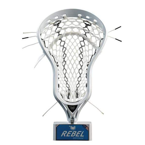 East Coast Dyes Mens Heads White/Black Striker ECD Rebel Defense Factory Strung Mens Lacrosse Head from Lacrosse Fanatic