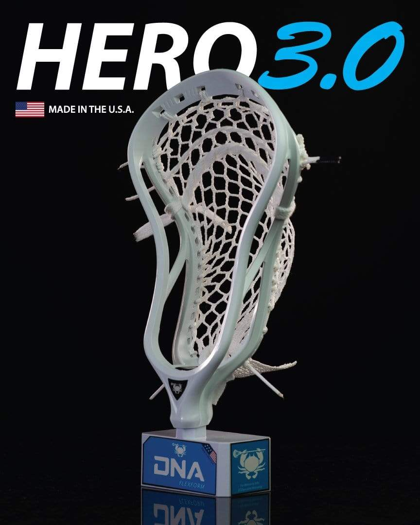 ECD Hero 3.0 Semi-Soft Black Striker Lacrosse Mesh