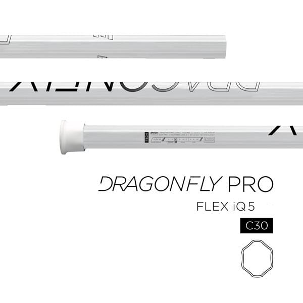 Epoch Handles Epoch Dragonfly Pro C30-iQ5 Attack/Midfield LE White Mens Lacrosse Shaft from Lacrosse Fanatic